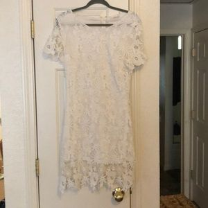 White lace dress size medium